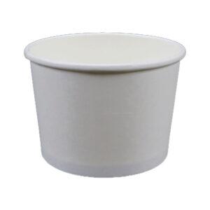 16oz Plain White Paper Food Container (500/CS)
