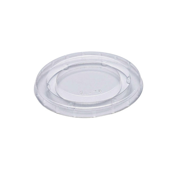 Lid for 2oz Clear PLA Compostable Portion Cup (2000/CS)