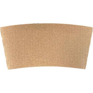 10 - 24oz Corrugated Kraft Plain Java Jacket for Hot Cups