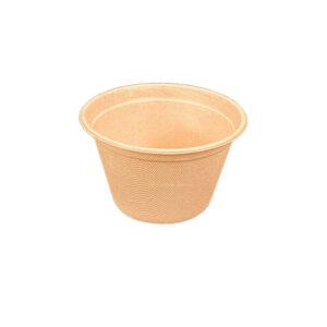 12oz Sugar Cane Natural Fibre Barrel Bowl (100% Compostable) (1000/Case)
