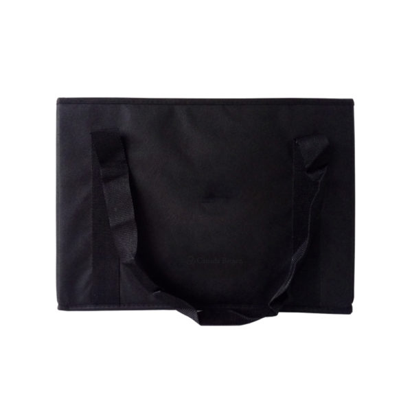 16.9 x 11 x 11 Black 95GSM Non Woven Storage Box Reusable Bag