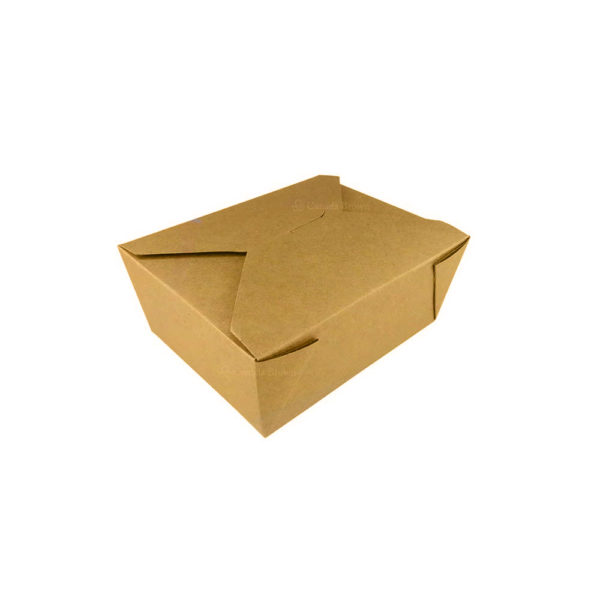 #5 Kraft Paper Takeout Box (450/Case)