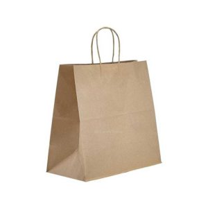 12 x 9 x 15.75 Kraft Twisted Handle Paper Bags 200/Case