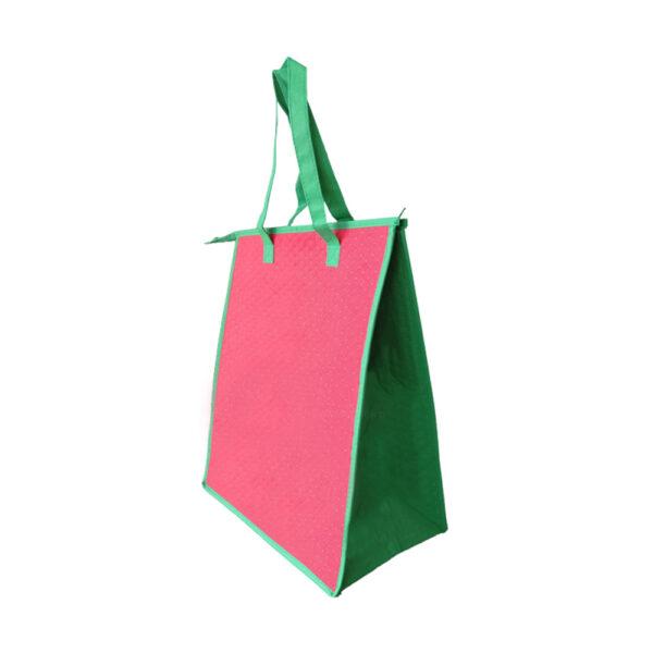 13 x 7.4 x 12.2 100GSM Dimpled Insulated Reusable Bag