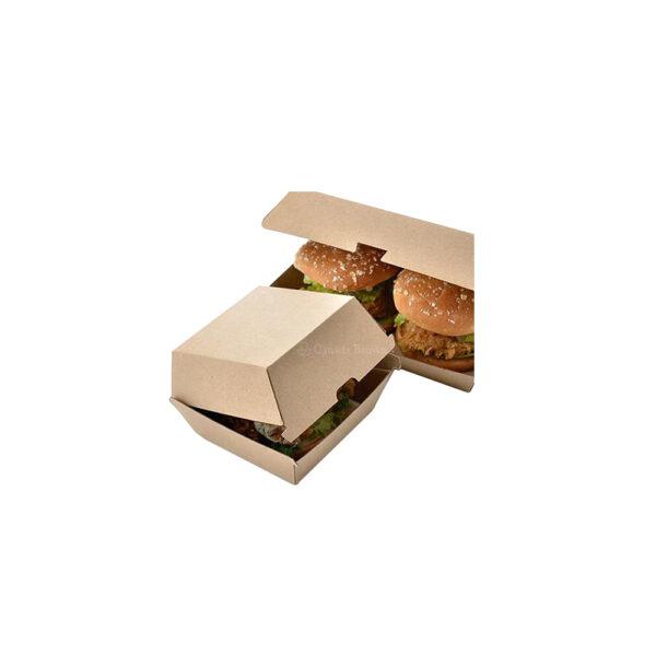 4 x 4 x 1.4 Kraft Paper Burger Boxes