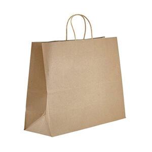 Heavy Duty 18 x 7 x 18.75 Kraft Twisted Handle Paper Bags 200/Case