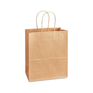 8.27 x 4.53 x 10 Kraft Twisted Handle Paper Bags 250/Case
