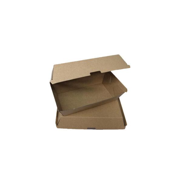 6 x 4 x 1.4 Kraft Paper Burger Boxes