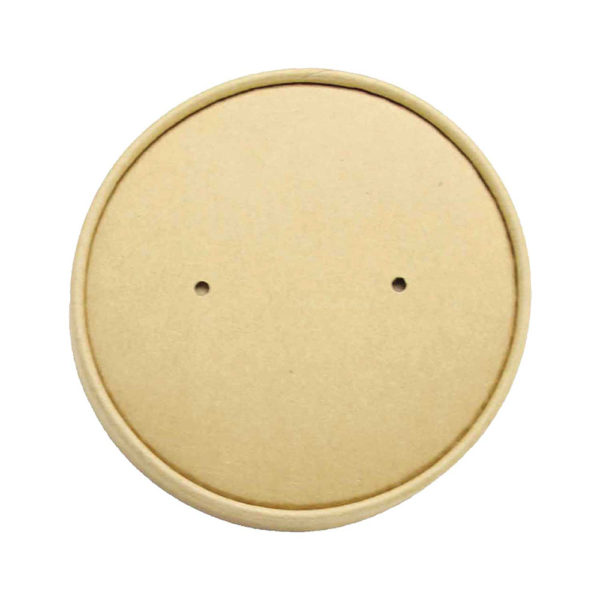 Kraft Paper Dome Lid for 16, 20, 26, 32oz Round Deli Kraft Paper Container (150mm) (200/CS)