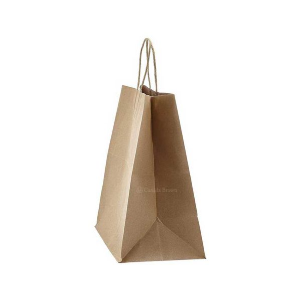 12 x 9 x 15 Kraft Twisted Handle Paper Bags 200/Case