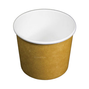 16oz Plain Kraft Recyclable Paper Soup Bowl (500/CS)