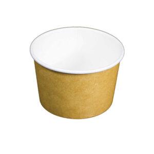 8oz Plain Kraft Recyclable Paper Soup Bowl (1000/CS)