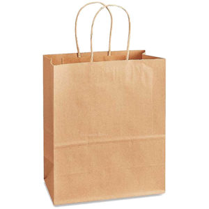 13.39 X 9.25 X 15.94 Kraft Twisted Handle Paper Bags 150/Case