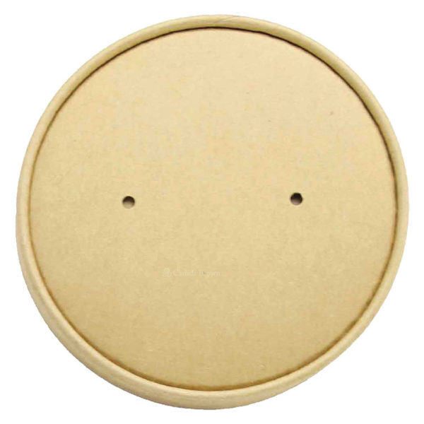 Kraft Paper Dome Lid for 32oz & 40oz Round Deli Kraft Paper Container (184mm) (150/CS)