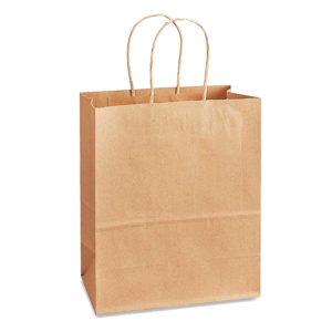 13 X 8.27 X 13.98 Kraft Twisted Handle Paper Bags 150/Case