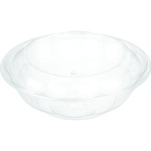"""64oz PET Rose Salad Bowl ( 10"""" ) Combo - Pack (100/CS)"""