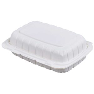 """9"""" X 6"""" X 3"""" Biobase Hinged Container (200/CS)"""