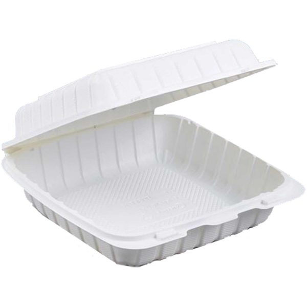 """9"""" X 9"""" X 3"""" Biobase Hinged Container (150/CS)"""