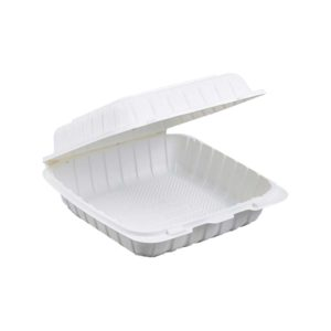 """6"""" X 6"""" X 3"""" Biobase Hinged Container (300/CS)"""