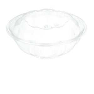 """24oz PET Rose Salad Bowl ( 7"""" ) Combo - Pack (150/CS)"""