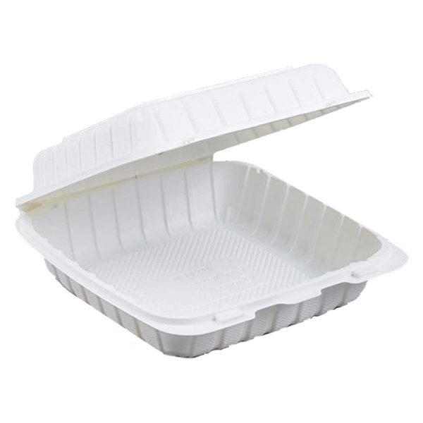 """8"""" X 8"""" X 3"""" Biobase Hinged Container (200/CS)"""
