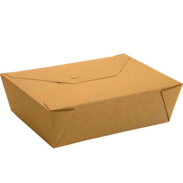 """#3 PLA Lined Compostable Kraft Paper Takeout Box 8.5"""" x 6.25"""" x 2.5"""" (200/CS)"""