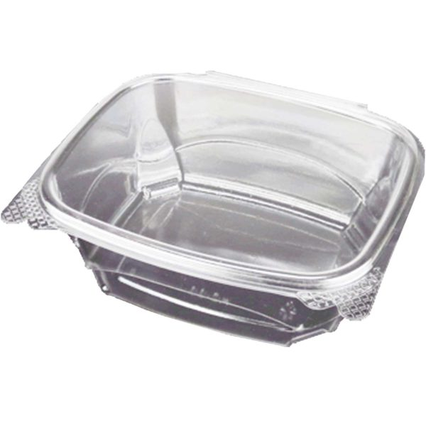 48oz PET Hinged Lid Clear Clamshell (200/CS)