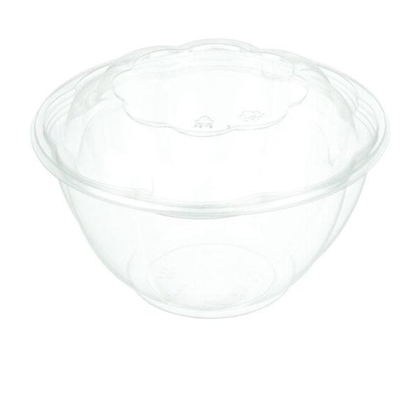 """32oz PET Rose Salad Bowl ( 7"""" ) Combo - Pack (150/CS)"""