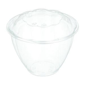 """48oz PET Rose Salad Bowl ( 7"""" ) Combo - Pack (150/CS)"""