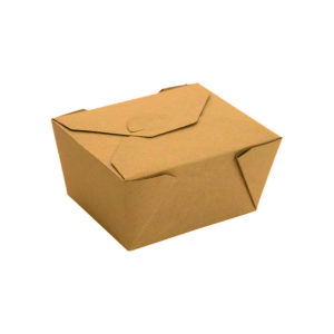 """#1 PLA Lined Compostable Kraft Paper Takeout Box 5"""" x 4 1/2"""" x 2 1/2"""" (450/CS)"""